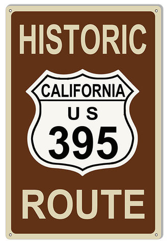 Historic Route 395 Reproduction Sign 12″x18″