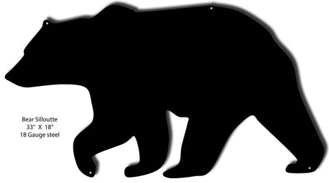 Bear Silhouette Laser Cut Out 18″x33″