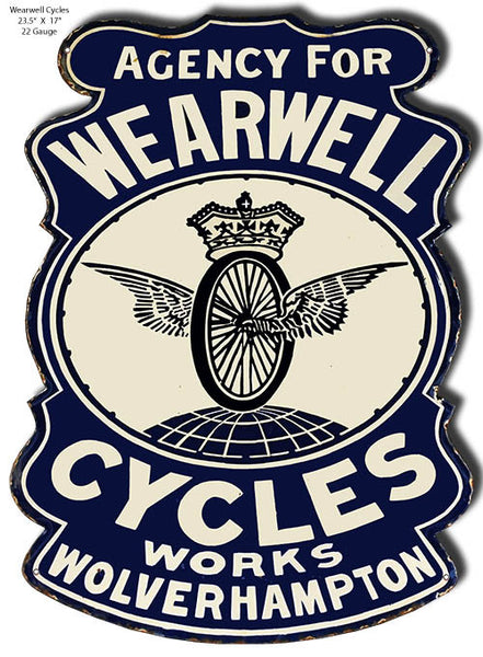 Wearwell Cycles Laser Cutout 23.5″x17″