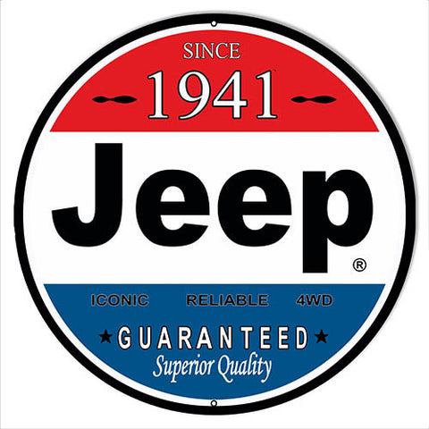 1941 Jeep Reproduction Sign 14″x14″