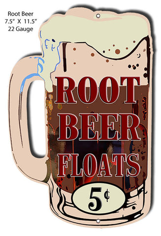 Root Beer Floats Laser Cut Out Sign 7.5x11.5