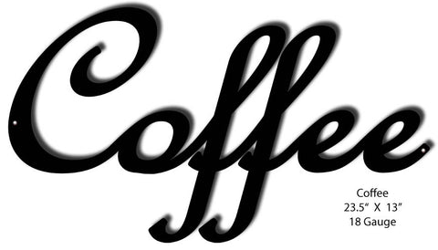 Coffee Laser Cut Out Sign 13″ x 23.5″