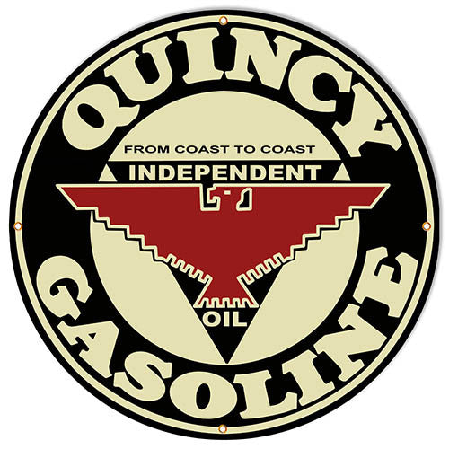 Quincy Gasoline Motor Oil Reproduction Sign 30″x30″