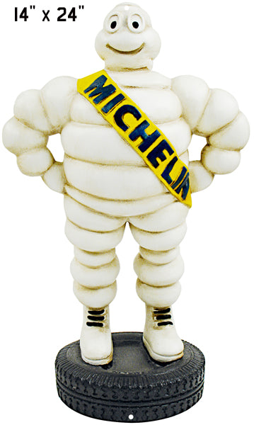 "Michelin Tire Gas Station Reproduction Laser Cut Out Garage Shop Sign 14""x24"""