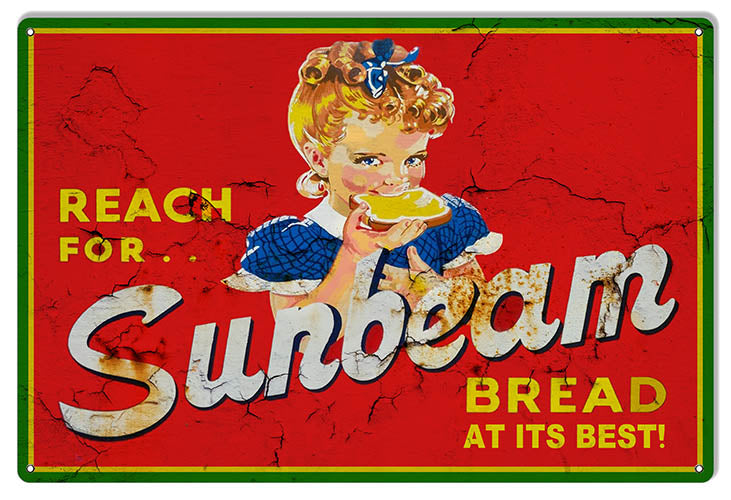 "Sunbeam Bread Reproduction Vintage Looking Country Sign 12""x18"""
