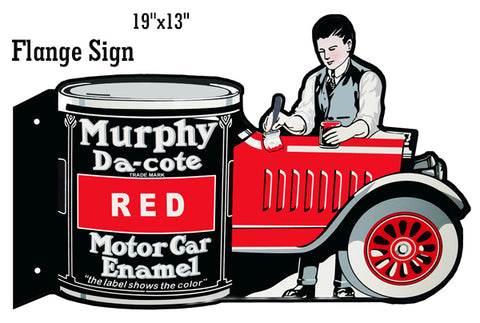"Murphy Motor Car Enamel Reproduction Garage Shop Flange Sign 13""x19"""