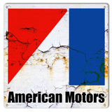 "American Motors Automobile Reproduction Garage Shop Sign 12""x12"""