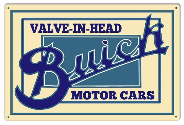 Buick Motor Cars Automobile Reproduction Garage Shop Sign 12″x18″