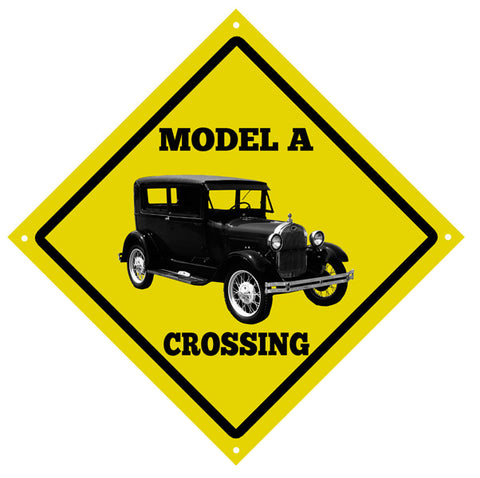Classic Model A Crossing Vintage Automobile Garage Shop Sign 12″x12″