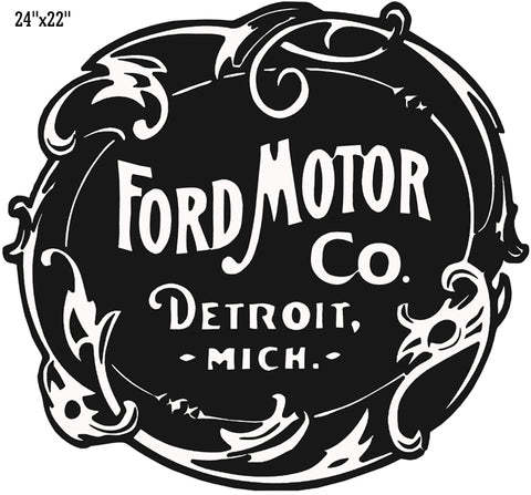 "Ford Motor Laser Cut Out Reproduction Garage Shop Sign 22""x24"""