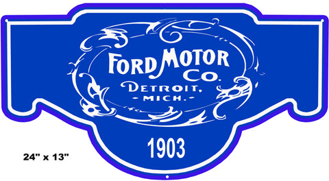 Ford Motor 1903 Car Laser Cut Out Reproduction Garage Shop Sign 13″x24″