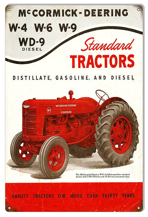 McCormick-Deering Tractors Construction Reproduction Country Sign 12″x18″