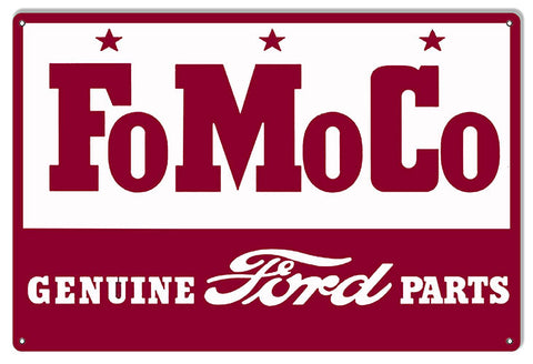 Ford Motor Automobile Company Reproduction Garage Shop Sign 12″x18″