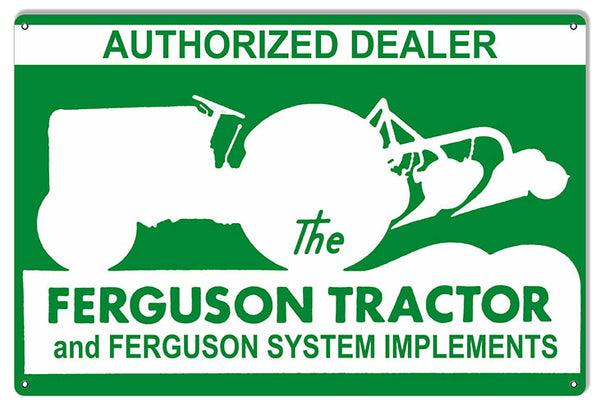 Ferguson Tractor Dealer Construction Reproduction Country Sign 12″x18″