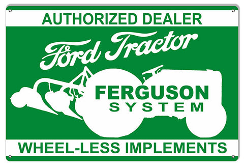 Ford Tractor Ferguson Dealer Construction Reproduction Country Sign 12″x18″