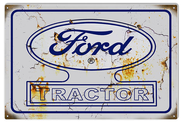 Ford Tractor Aged Looking Construction Reproduction Country Sign 12″x18″