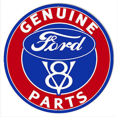 Ford Automobile Parts Gas Station Garage Reproduction Sign 14″x14″ Round