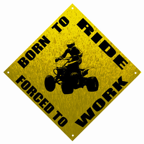 Muddy Born To Ride Motor Bike Reproduction Garage Shop Sign 12″x12″