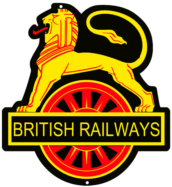 British Railways Reproduction Railroad Laser Cut Out Sign 15″x16″