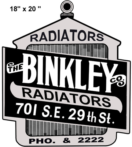 Binkley Radiators Gas Station Laser Cut Out Reproduction Sign 18″x20″