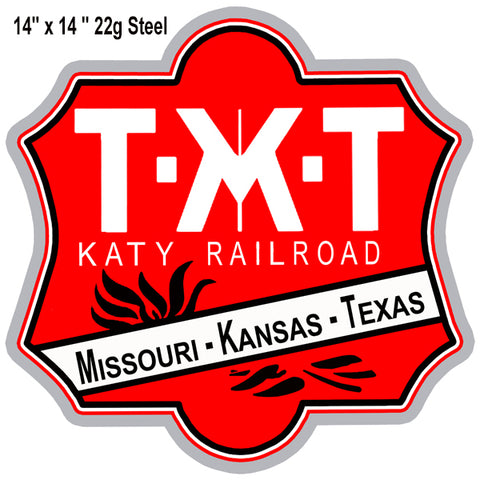 MKT Katy Railroad Laser Cut Out Reproduction Sign 14″x14″