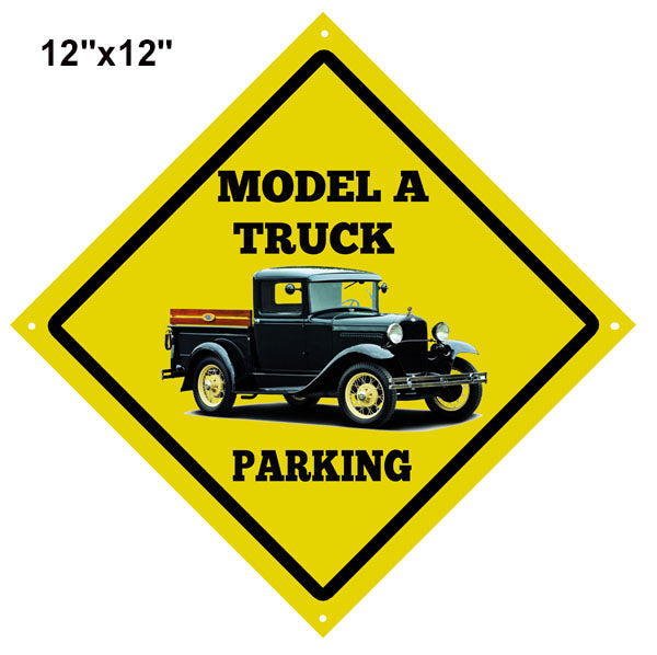 Model A Truck Parking Reproduction Garage Shop Sign 12″x12″