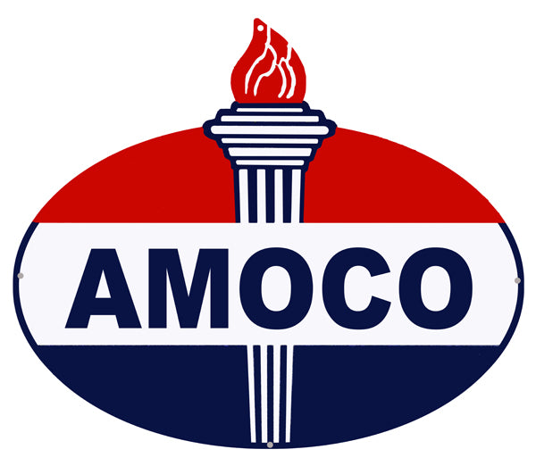 Amoco Laser Cut Out Reproduction Motor Oil Metal Sign 18″x23.5″