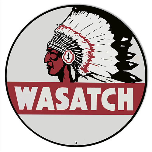 Wasatch Motor Oil Reproduction Garage Shop Metal Sign 14″x14″ Round