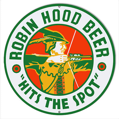 Robin Hood Beer Reproduction Bar Sign 14x14 Round