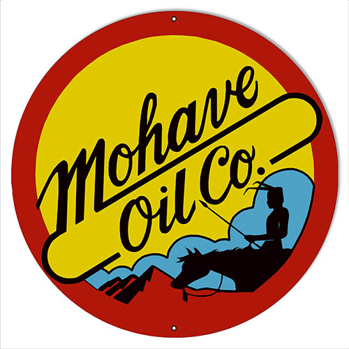 Mohave Motor Oil Reproduction Gas Station Sign 14″x14″ Round