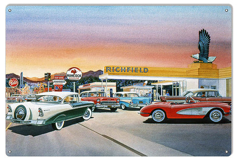 Richfield Gas Station Reproduction Garage Sign By Jack Schmitt 12x18