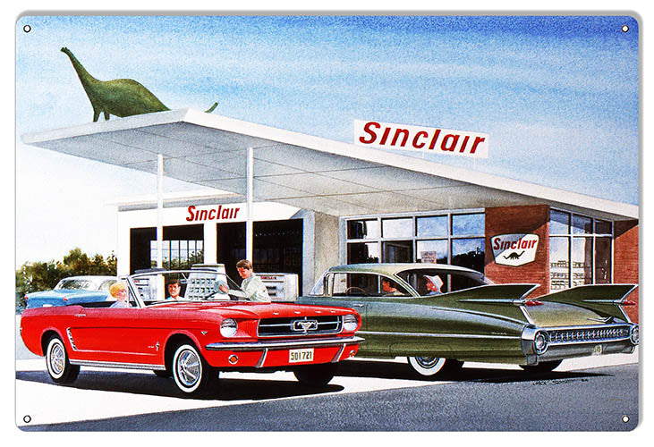 Sinclair Gas Station Reproduction Garage Sign By Jack Schmitt 12x18