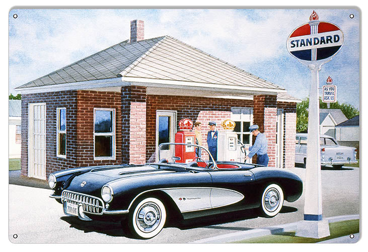 Standard Oil Gas Station Reproduction Sign By Jack Schmitt 12x18