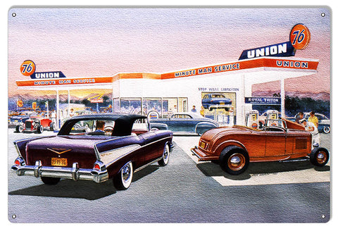 Union 76 Gas Station Reproduction Sign By Jack Schmitt 12x18