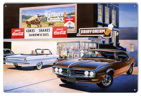 Mustang Hot Rod Reproduction Garage Shop Sign By Jack Schmitt 12x18