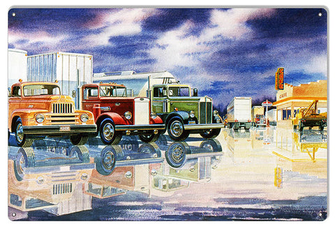 Standard Motor Oil Truck Stop Reproduction Sign By Jack Schmitt 12x18