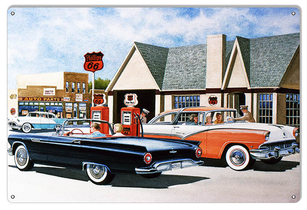 Phillips 66 Gas Station Reproduction Garage Sign By Jack Schmitt 12x18