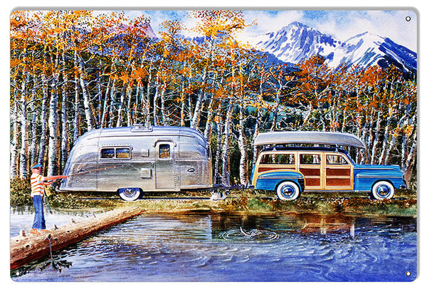 Woody And Airstream Reproduction Garage Shop Sign By Jack Schmitt12x18