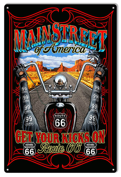 Route 66 Main Street Garage Shop Sign By Steve McDonald 12x18
