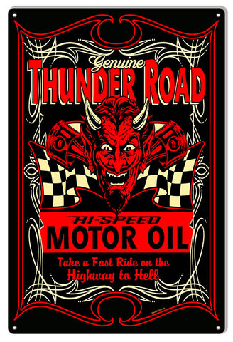 Motor Oil Thunder Road Garage Art Sign By Steve McDonald 12x18