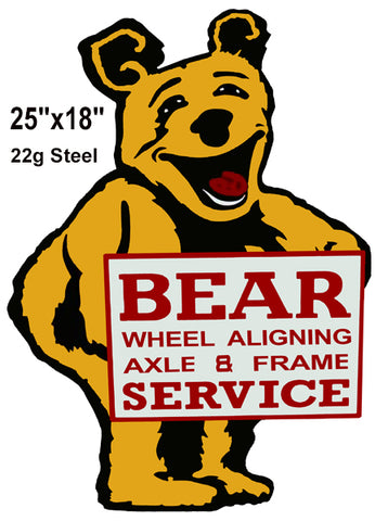 Bear Gas Station Reproduction Laser Cut Out Sign 18x25