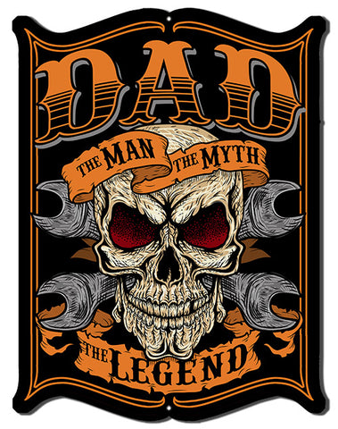Dad The Man Cut Out Metal Sign By Steve McDonald 14x18