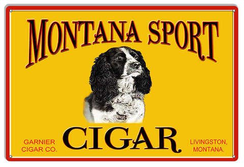 Montana Sport Tobacco Reproduction Cigar Metal Sign 12x18