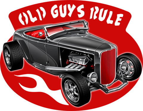 Old Guys Rule Cut Out 3D Effect By Scott Siebel Metal Sign 16.3x21