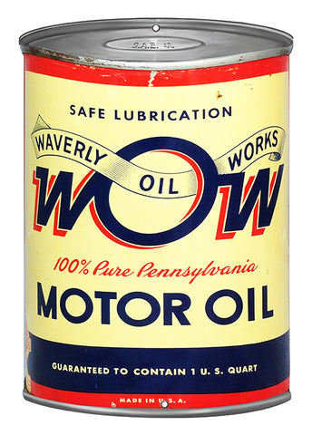 Waverly Reproduction Motor Oil Can Cut Out Metal Sign 7.25x10.6