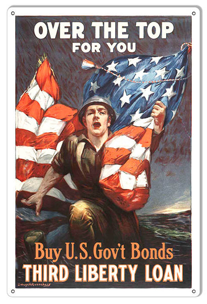 U.S. Government Bonds Reproduction Money Metal Sign   18x30