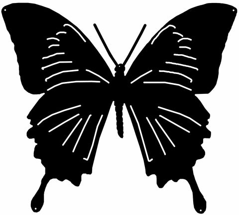 Butterfly Cut Out Wall Art Silhouette Metal Sign 19.5x21.7