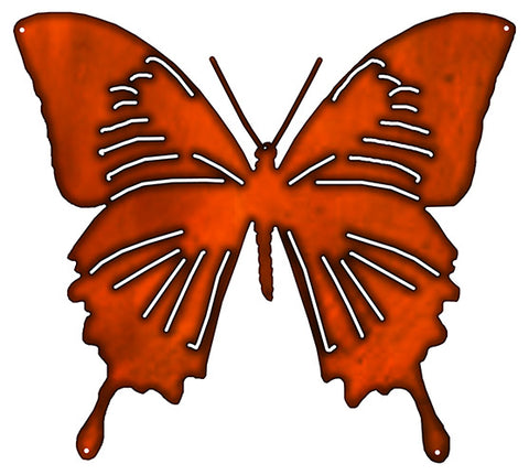 Butterfly Cut Out Faux Copper Finish Metal Sign 19.5x21.7
