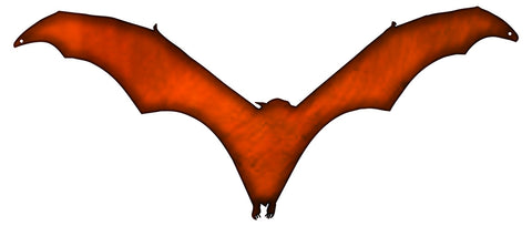 Bat Laser Cut Out Faux Copper Finish Wall Decor Metal Sign 8.1x19.2
