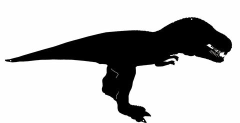 T-Rex Dinosaur Cut Out Wall Decor Silhouette Metal Sign 10.6x22.